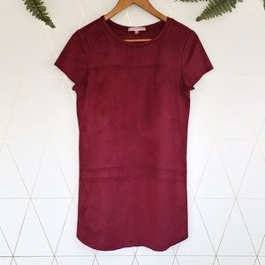 stitch fix lavender brown faux suede dress, small